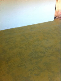 EucaFlora Nursery Concrete Floor -  treated with Ochre colour Vindo and Kunos clear.