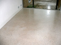 Tasmanian home - white oxide added to the concrete and treated with Kunos Natural Oil sealer White.