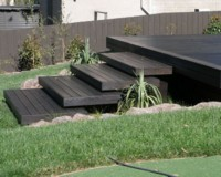 Black deck - Creating a different look is not difficult, deck treated with Alis Black decking oil.