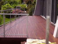 Jarrah Deck -The natural decking oils contain pigments to help protect against the elements