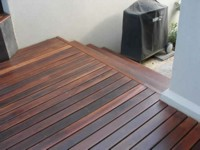 Ironbark decking - Treated with 2 coats of Alis Decking oil.