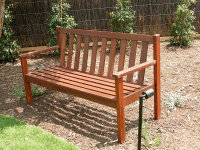 Exterior Bench - Treated with the external natural timber oils.