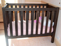 Organature Cot - Stained with our Smoked Oak non toxic wood stain.