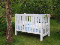 Organature Cot - Treated with our environmentally friendly White eco paint.