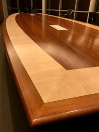 Beautiful boardroom table made by Simon at Zabo Design and finished with the Kunos natural oil sealer