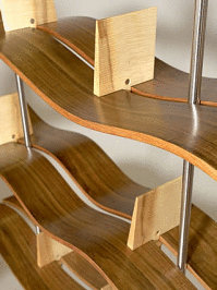 "Blackwood & Huon Pine ""Strait"" Shelves - Treated with Livos Natural Furniture oils."