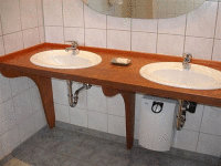 OSB Vanity - Treated with Kaldet non toxic wood stain and Kunos Natural Oil Sealer.