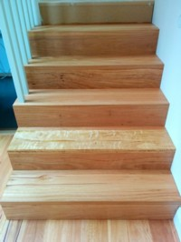 A major advantage of an oiled surface such as stairs, is its longevity and easy maintenance.