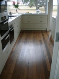 Recycled Tallow Wood - Ideal in heavy wear areas such as kitchens, as floor may be easily rejuvenated, no sanding required.