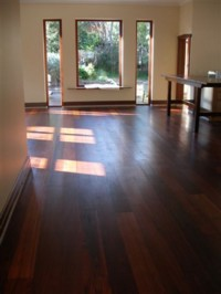 Rosewood Flooring - Sanded and treated with Ardvos universal wood oil.
