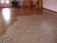 Rejuvenation of Blackbutt parquetry - Floors do not require re sanding.