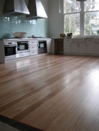 Commercial Kitchen Tasmania - Tas Oak flooring sanded and oiled with Kunos natural oil sealer #244