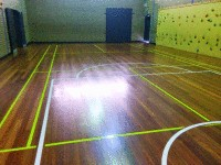 Wantirna Gym floor (after)- sanded off old varnish and re oiled with Kunos natural oil sealer