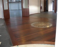 Bahai Centre of Learning, Hobart - Concrete oiled with Linus and Kunos. Jarrah timber floors with Kunos.