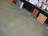 Shop floor - After 2 years the colour has increased in depth.