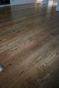 Smoked Oak on American Oak  - Staining highlights the timber features however given the timber a different colour hue.