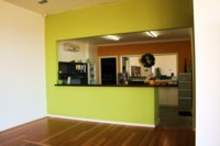 Bayswater Showroom Front Counter - After. After. Fresh, vibrant colours.