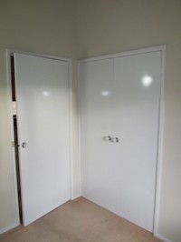Wardrobe doors - A gloss finish can be achieved with the Vindo.