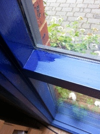 Vindo natural gloss paint ultramarine blue DIY