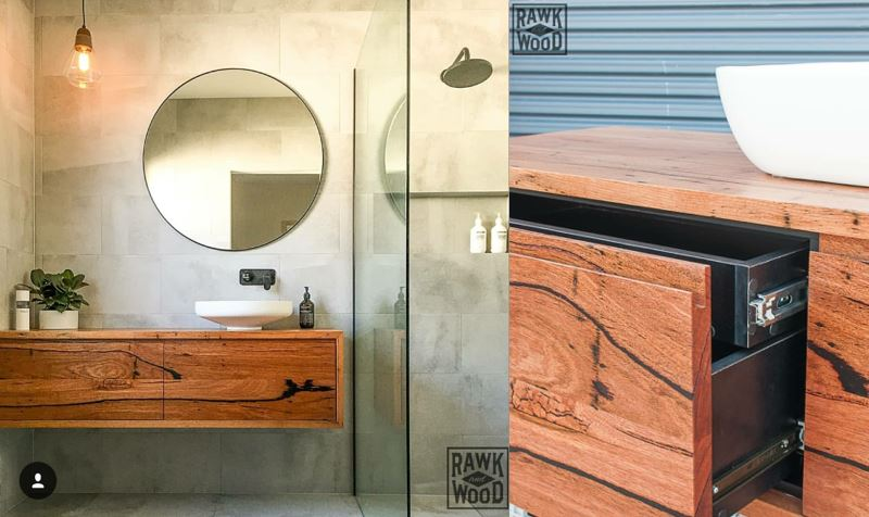 Livos' timber solution for bathroom vanities