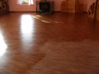 Maintaining oiled or waxed floors.
