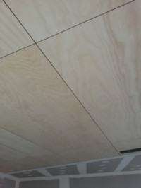 Kunos white on ply ceiling